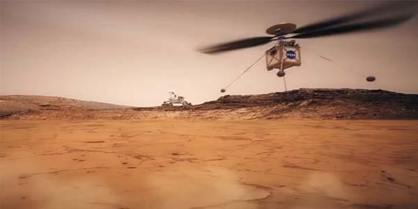 NASA Uji coba Helicpter d Mars